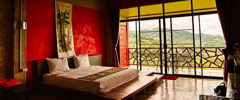Hotelroom in Mae Salong  with good view